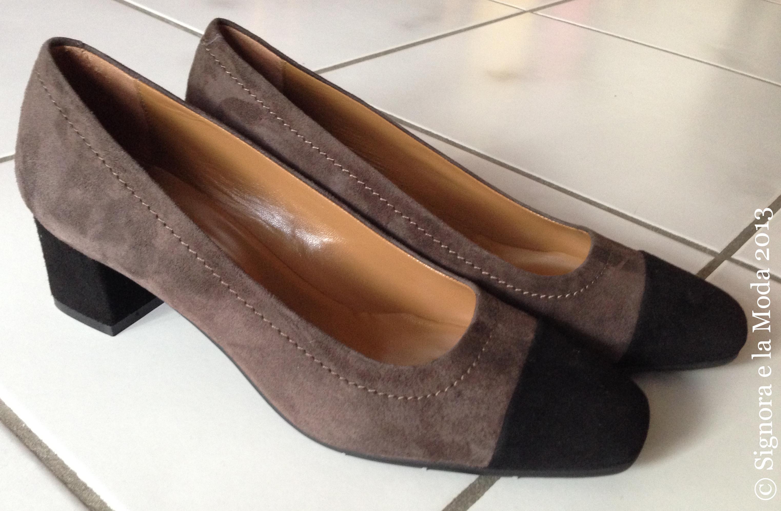 Pollini Studio zweifarbige Schuhe