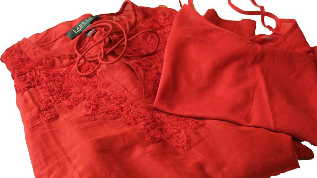 Lauren rote Bluse