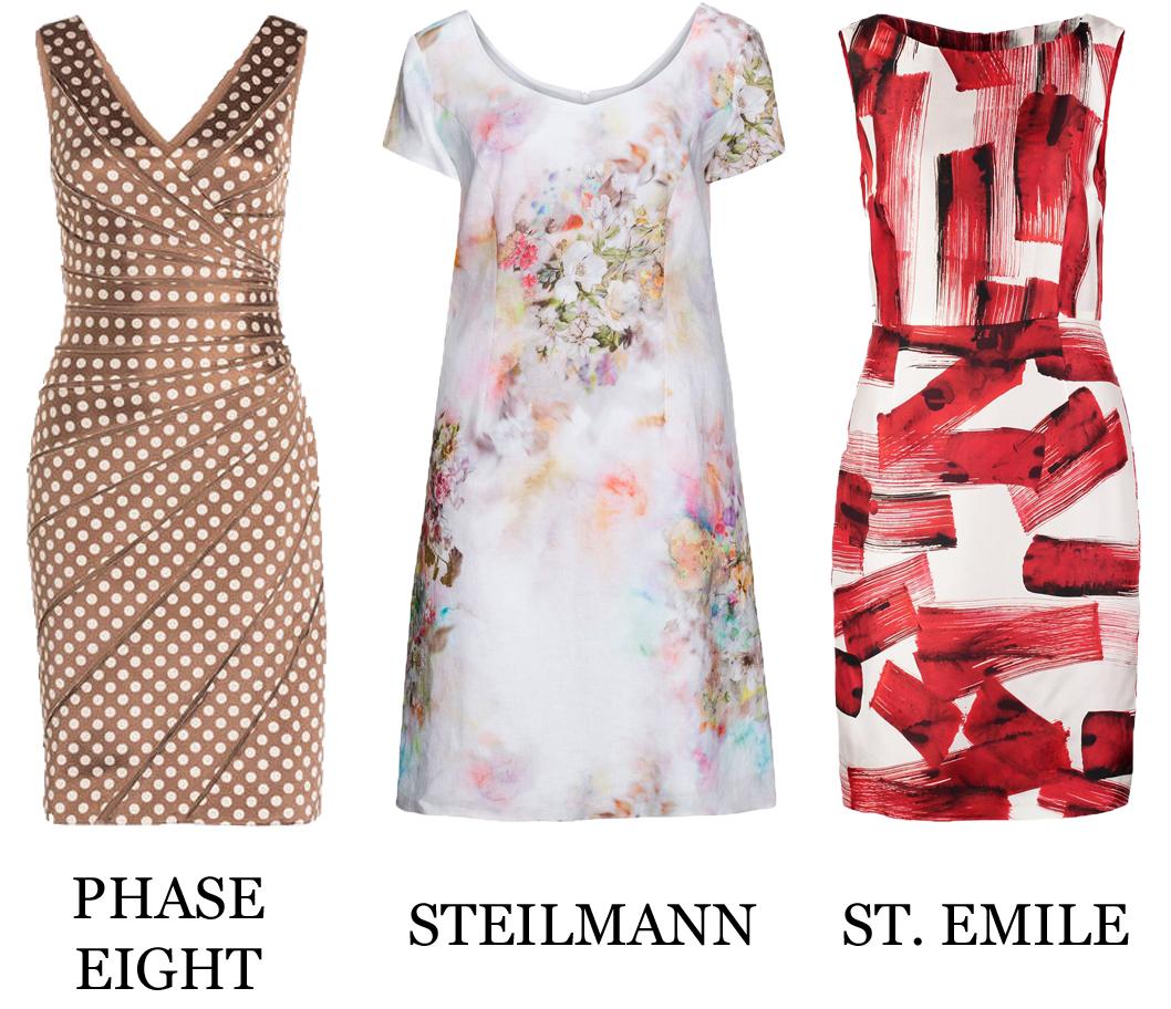 Kleid braun tupfen | Trendige Kleider für die Saison 2018
